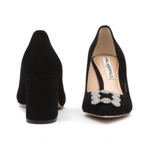 "6d00098a4b8 Karl Lagerfeld Shoes - Karl Lagerfeld ""Adona"" Suede Block Heel Pump"